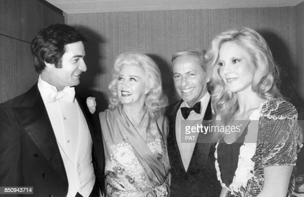 JeanClaude Brialy Ginger Rogers Guy Lux et Sylvie Vartan lors des 90 ans du MoulinRouge le 1er février 1980 à Paris France
