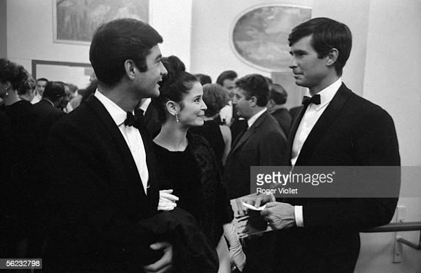 JeanClaude Brialy MarieJose Nat and Anthony Perkins Paris 1962 HA2222
