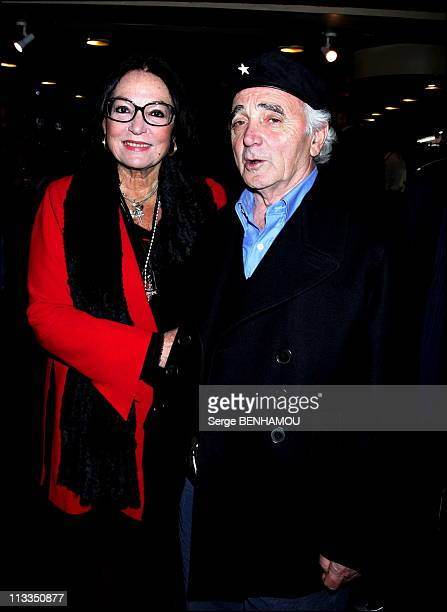 JeanClaude Brialy Presents His New Book 'Mon Algerie' On October 23Rd 2006 In Paris France Here Nana Mouskouri And Charles Aznavour