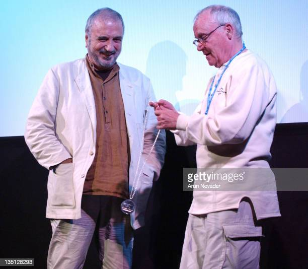 JeanClaude Carriere and Buck Henry during 31st Telluride Film Festival A Tribute to JeanClaude Carriere at The Sheridan Opera House in Telluride...