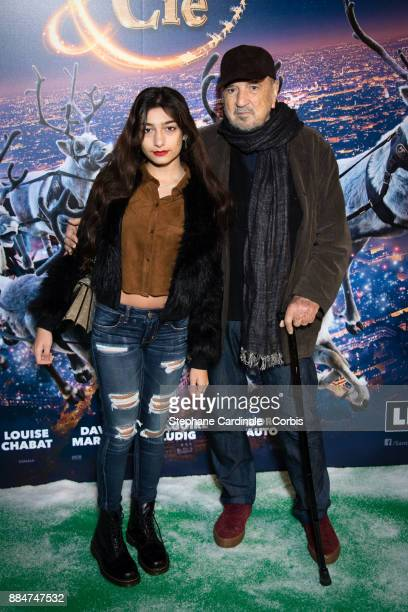 JeanClaude Carriere and his daughter Kiara attend the Santa Cie Paris Premiere at Cinema Pathe Beaugrenelle on December 3 2017 in Paris France