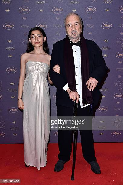 JeanClaude Carriere and his daughter Kiara Carriere arrive at the Opening Gala Dinner during The 69th Annual Cannes Film Festival on May 11 2016 in...