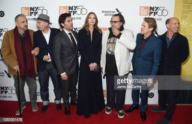 JeanClaude Carriere Benoit Delhomme Oscar Isaac Louise Kugelberg Julian Schnabel Willem Dafoe and Jon Kilik attend the 'At Eternity's Gate' premiere...