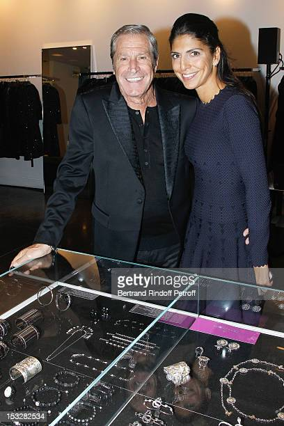 Jean-Claude Darmon and Hoda Roche attend the Buccellati Blossom Butterfly and Daisy new collection presentation with the 4th generation of the...