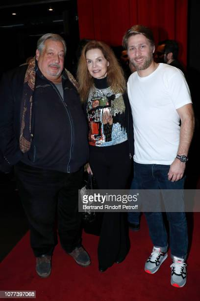 JeanClaude Dreyfus Cyrielle Clair and Tom Dingler attend the Alex Lutz's concert with the Group of singer Guy Jamet which he played in the movie Guy...