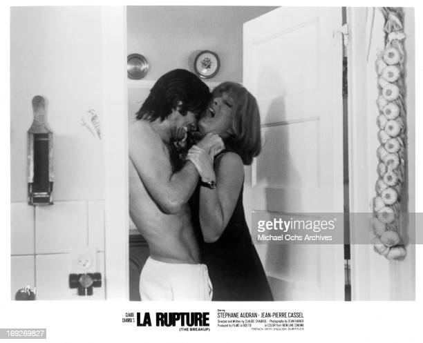 JeanClaude Drouot fighting Stephane Audran in a scene from the film 'The Breach' 1970