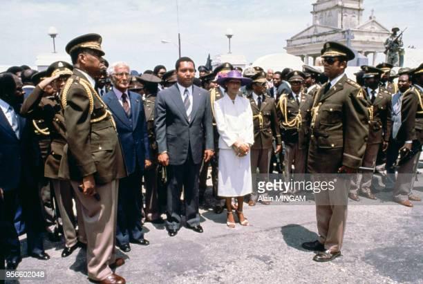 Jean-Claude Duvalier et sa femme Michèle, avril 1981, Port au Prince, Haïti.