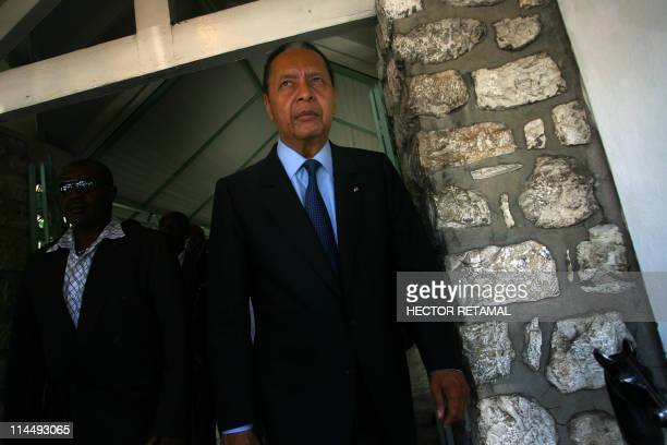 Jean-Claude Duvalier, Haiti's former dictator in the Hotel Kinam in Petion Ville, after lunch with his lawyers and friends, in Port au Prince on May...