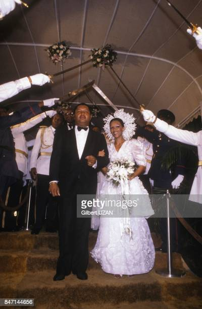 JeanClaude Duvalier ninth lifetime president of the republic married Michele Bennet in the neoGothic cathedral in Haiti capital city on May 28 1980...