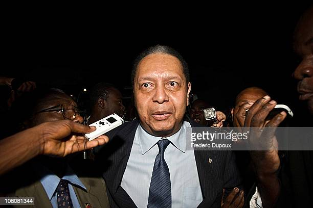 """Jean-Claude Duvalier , the former Haitian leader """"Baby Doc"""", arrives at the airport on January 16, 2011 in Port-au-Prince, Haiti. Duvalier was..."""