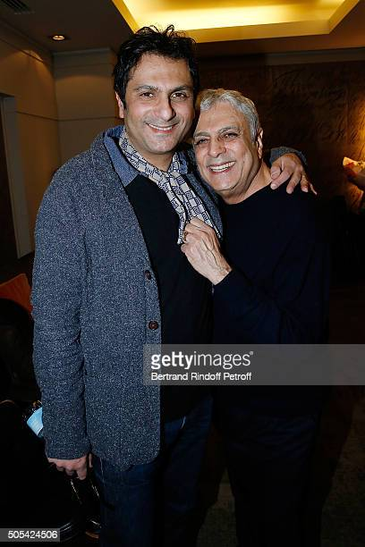 JeanClaude Ghrenassia and his father Enrico Macias attend The Enrico Macias Show at L'Olympia on January 16 2016 in Paris France