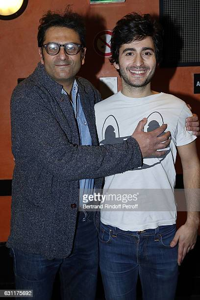 Jean-Claude Ghrenassia and his nephew Symon Mill attend the Enrico Macias Show at L'Olympia on January 7, 2017 in Paris, France.