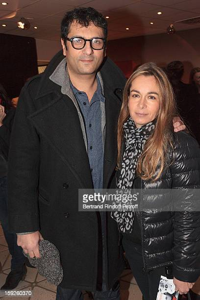 Jean-Claude Ghrenassia and his wife attend the screening of 'Enrico Macias, la vie en chansons' , a documentary by Antoine Casubolo Ferro, at SACEM...