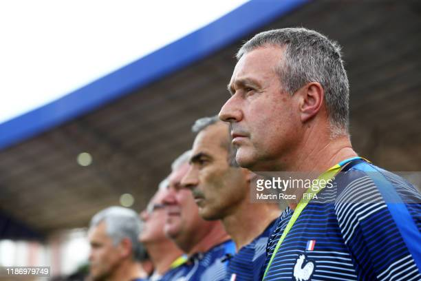 Jean-Claude Giuntini, Coach of France during the FIFA U-17 World Cup Quarter Final match between Spain and France at the Estádio Olímpico Goiania on...