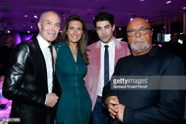 JeanClaude Jitrois AnneClaire Coudray Julien Landais and JeanBaptiste Mondino attend the 16th Sidaction as part of Paris Fashion Week on January 25...