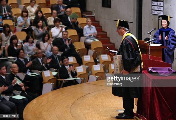 JeanClaude Juncker Luxembourg's prime minister and president of the Eurogroup attends a ceremony awarding him an honorary doctorate degree at Sophia...
