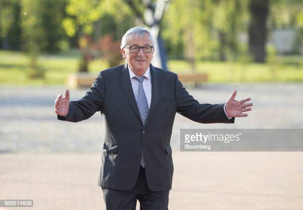 JeanClaude Juncker president of the European Commission arrives for an informal dinner at Sofia Tech Park in Sofia Bulgaria on Tuesday May 15 2018...