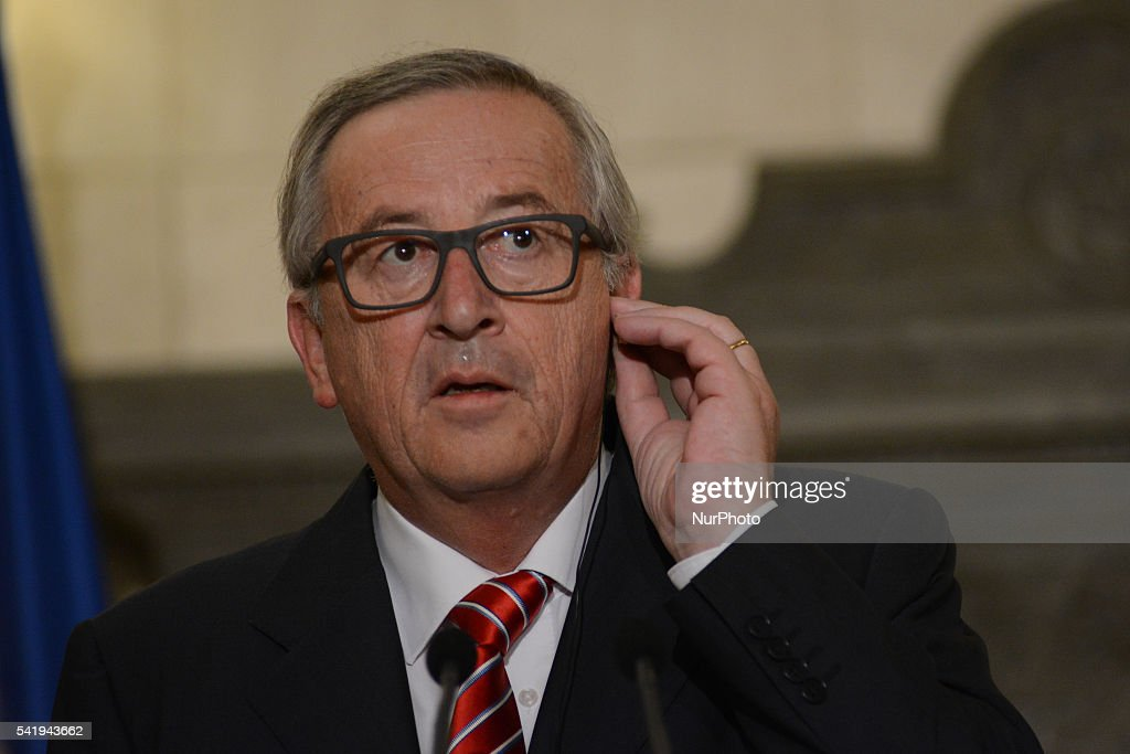 Jean-Claude Juncker, President of the European Commission in Athens : News Photo