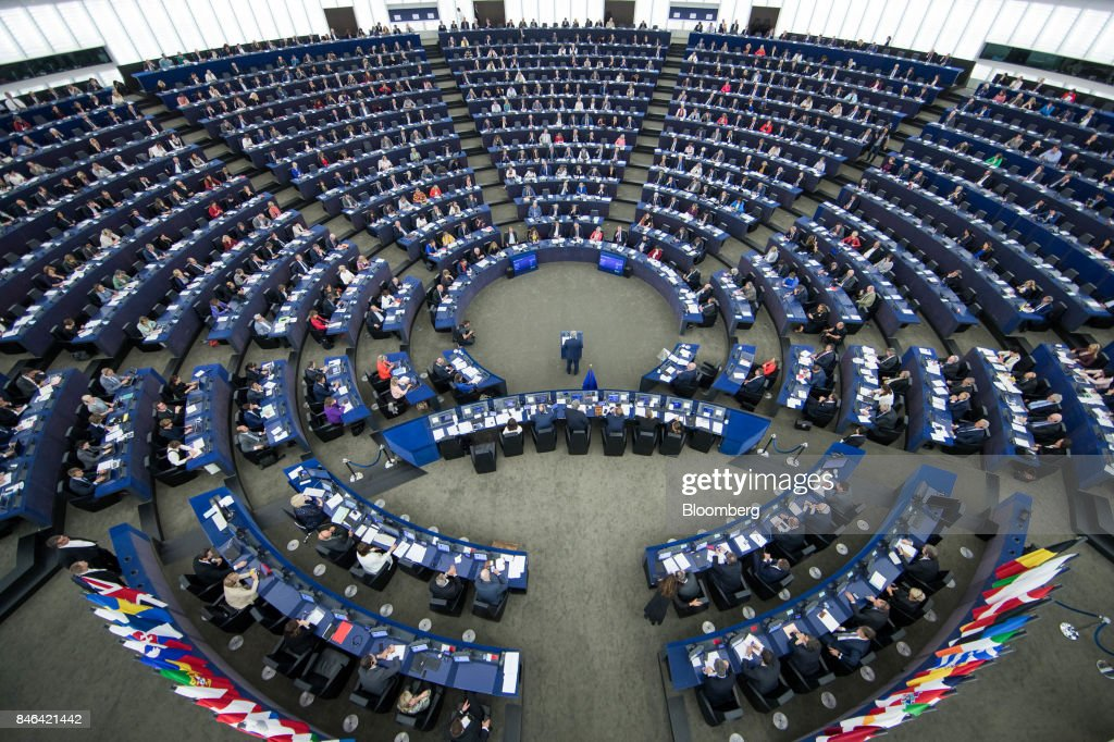 European Commission President Jean-Claude Juncker Delivers The State Of The Union Address : News Photo