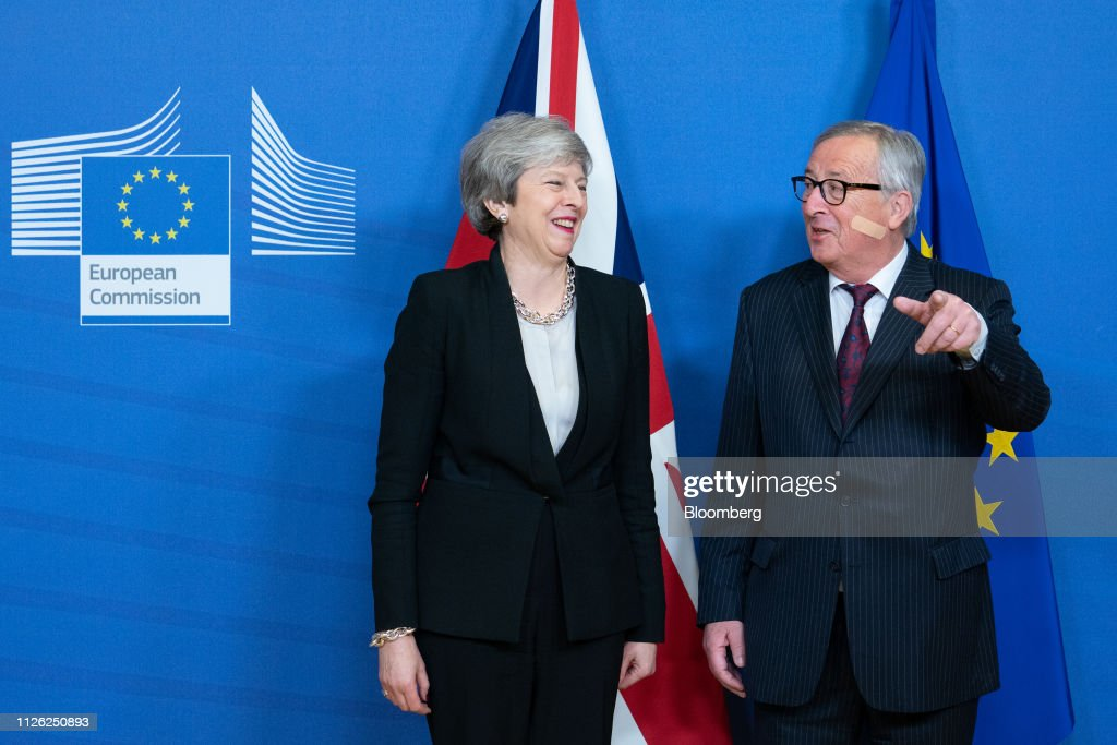 BEL: U.K. PM May Meets With EU's Juncker To Target Brexit Deal