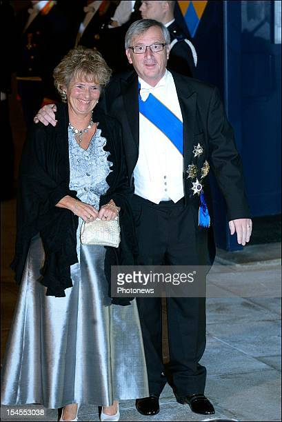 Jean-Claude Juncker,Prime Minister of Luxembourg and guest arrives at the Gala Dinner for the wedding of Prince Guillaume Of Luxembourg and Stephanie...