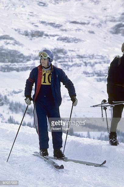 JeanClaude Killy looks on during a 1968 Alpine Skiing World Cup event in January 1968 in Wengen Switzerland