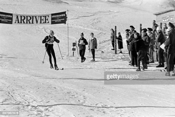 JeanClaude Killy of France skis to win the men's slalom 'Criterium de la Première neige' on December 16 1961 in Val d'Isère / AFP PHOTO /