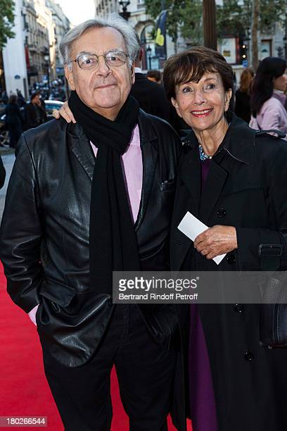 JeanClaude Meyer and companion AnneClaire Taittinger arrive for the premiere of the movie 'Quai d'Orsay' organized by the Claude Pompidou foundation...