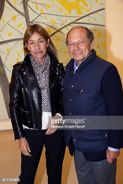 JeanClaude Meyer and his wife Nathalie BlochLaine attend Art Architecture by Peter Marino Book Signing at Galerie Thaddeus Ropac on September 30 2016...