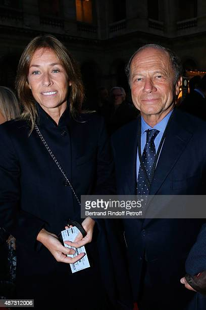JeanClaude Meyer and his wife Nathalie BlochLaine attend 'La Traviata' Opera en Plein Air produced by Benjamin Patou 'Moma Group' Held at Hotel Des...