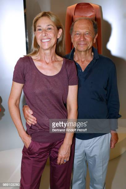 JeanClaude Meyer and his wife Nathalie BlochLaine attend L'Alchimie secrete d'une collection The Secret Alchemy of a Collection Exhibition Preview at...