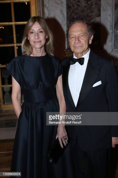 JeanClaude Meyer and his wife Nathalie BlochLaine attend the 20th Gala Evening of the Paris Charter Against Cancer for the benefit of the...