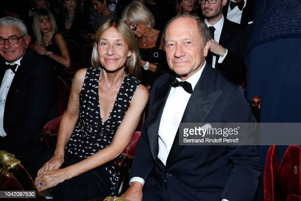 JeanClaude Meyer and his wife Nathalie BlochLaine attend the Opening Season Paris Opera Ballet Gala as part of the Paris Fashion Week Womenswear...