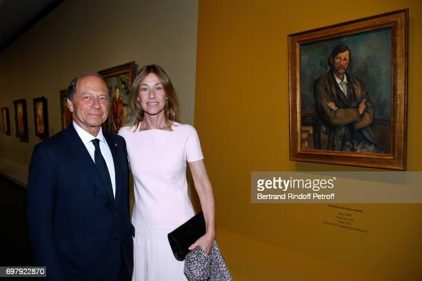 JeanClaude Meyer and his wife Nathalie BlochLaine attend the Societe ses Amis du Musee d'Orsay Dinner Party at Musee d'Orsay on June 19 2017 in Paris...