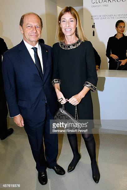 JeanClaude Meyer and Nathalie Bloch Laine attend the 'Diner des Amis du Musee d'Art Moderne' at Musee d'Art Moderne on October 21 2014 in Paris France