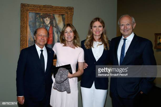 JeanClaude Meyer his wife Nathalie BlochLaine Chairman Chief Executive Officer of L'Oreal JeanPaul Agon and his wife Sophie attend the Societe ses...