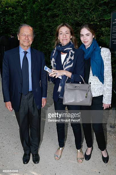 JeanClaude Meyer Nathalie BlochLaine and her daughter Marie Sarde attend the private tour and dinner of the Lee Ufan's Exhibition at Chateau de...