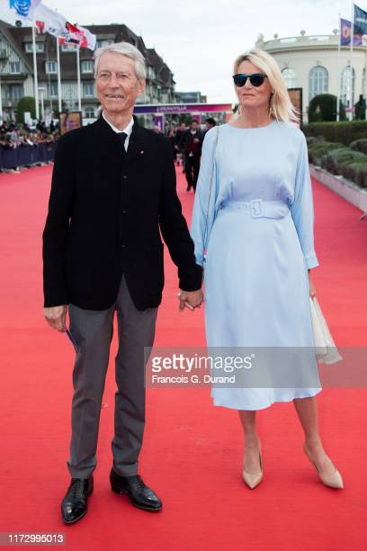 JeanClaude Narcy and Companion of the late Gonzague Saint Bris Alice Bertheaume attend the Tribute to the 25 Years Of Competition during the 45th...