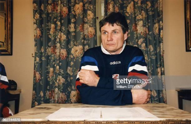 JeanClaude Skrela entraîneur du Quinze de France lors du Tournoi des cinq nations 15 janvier 1997 Dublin Irlande