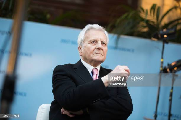 JeanClaude Trichet chief executive officer of the Group of Thirty and former president of the European Central Bank pauses while speaking during a...