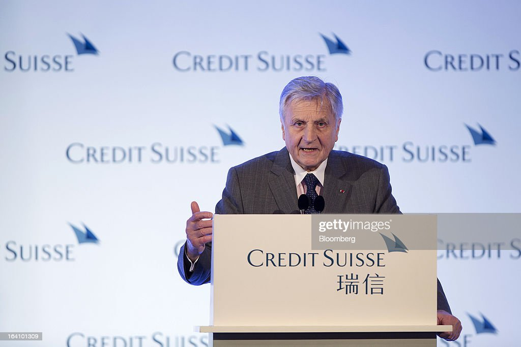 Jean-Claude Trichet, former president of the European Central Bank (ECB), speaks during the Credit Suisse Asian Investment Conference in Hong Kong, China, on Wednesday, March 20, 2013. Trichet says he is confident there is no element of contagion with Cyprus. Photographer: Jerome Favre/Bloomberg via Getty Images