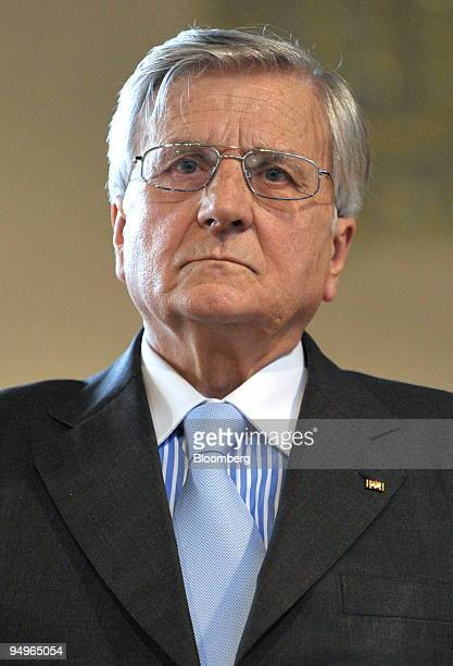 JeanClaude Trichet president of the European Central Bank pauses prior to speaking at the University of Munich in Germany on Monday July 13 2009...