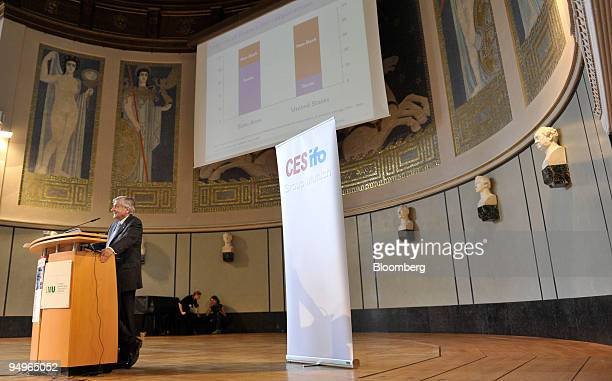 JeanClaude Trichet president of the European Central Bank speaks at the University of Munich in Germany on Monday July 13 2009 Trichet pressed...