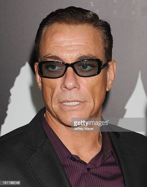 """Jean-Claude Van Damme and Gladys Portugues arrive at """"The Expendables 2"""" Los Angeles premiere at Grauman's Chinese Theatre on August 15, 2012 in..."""