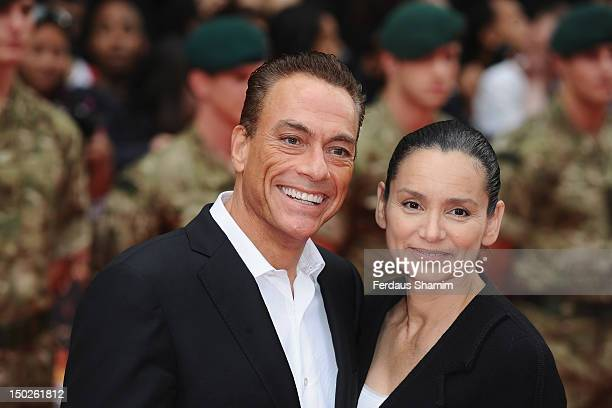 JeanClaude Van Damme and Gladys Portugues attend the UK film premiere of The Expendables 2 on August 13 2012 in London United Kingdom
