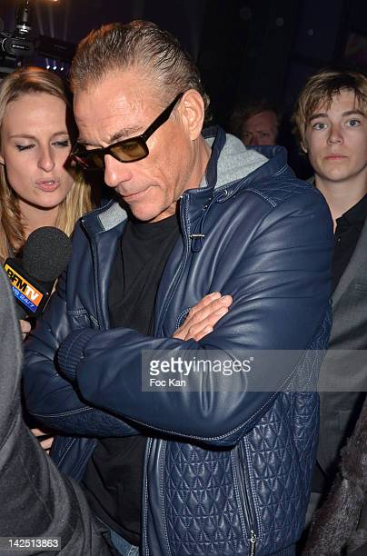 JeanClaude Van Damme and his son attend the Radio FG 20th Anniversary Celebration at Le Grand Palais on April 5 2012 in Paris France