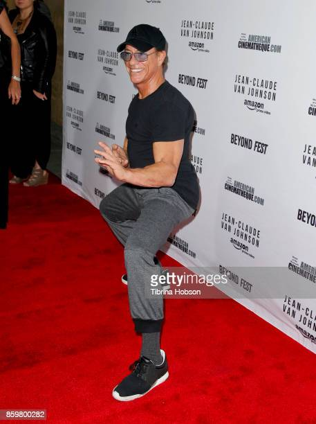 Jean-Claude Van Damme attends Beyond Fest's screening of Amazon's 'Jean-Claude Van Johnson' at The Egyptian Theatre on October 9, 2017 in Los...