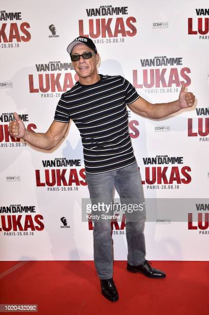 JeanClaude Van Damme attends the Lukas Paris Premiere at Cinema Gaumont Capucines on August 20 2018 in Paris France