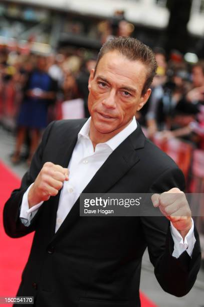 JeanClaude Van Damme attends the UK premiere for The Expendables 2 at Simpsons On The Empire Leicester Square on August 13 2012 in London England