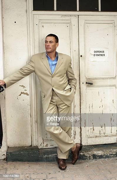 Jean-Claude Van Damme during 2003 Cannes Film Festival - Jean Claude Van Dam Portraits at Carlton Hotel in Cannes, France.